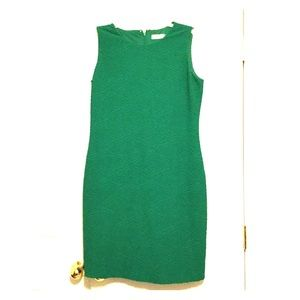 Calvin Klein S 16 Green dress w lining. No sleeves